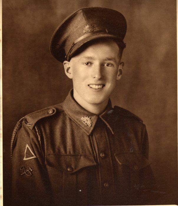 Joe in Army uniform