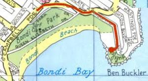 Map of North Bondi/Ben Buckler