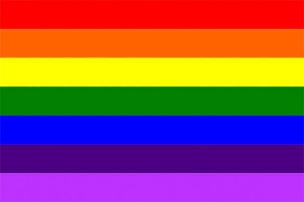 Gay LGBTQ Fetish BDSM Owned with Rainbow Stripes Dog Tag